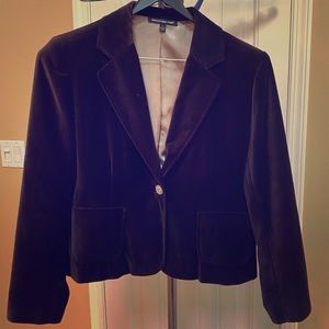 Briggs New York Brown Velvet Blazer